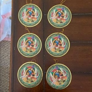 Set of 6 Mickey and Friends Cardboard Ornaments